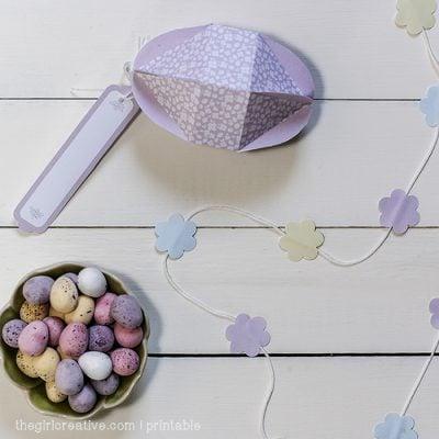 Easter Printable – egg-shaped box template