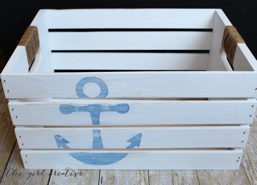 diy nautical nursery decor diy distressed nautical crate the creative 10786