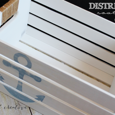 DIY Distressed Nautical Crate