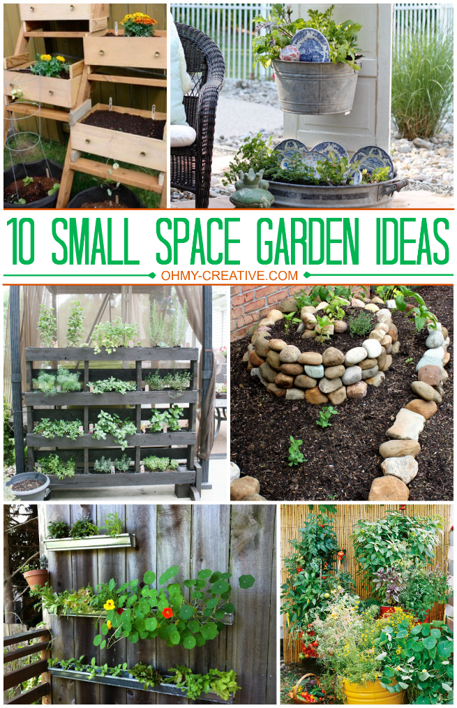10 small space garden ideas and inspiration the girl creative - How to create a garden in a small space image ...