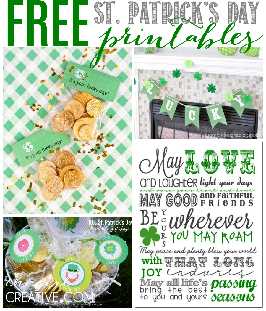 St. Patrick's Day Printables Collage