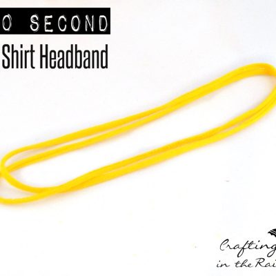 Double T Shirt Headband in 60 Seconds