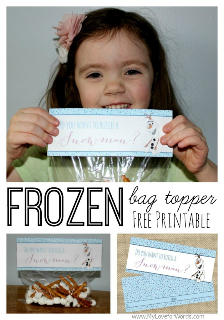 Free Printable Frozen Bag Topper