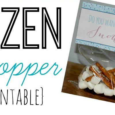 Free Printable Frozen Bag Topper