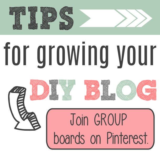 Join Group Boards on Pinterest to help grow your blog.