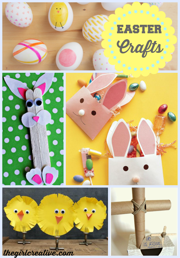 Easter Crafts For Kids The Girl Creative