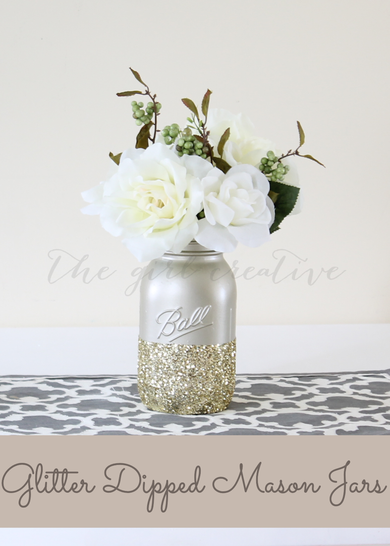 Glitter-dipped-Mason-Jars