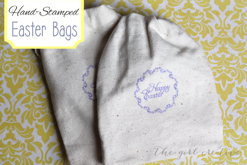 Hand-stamped-Easter-bags