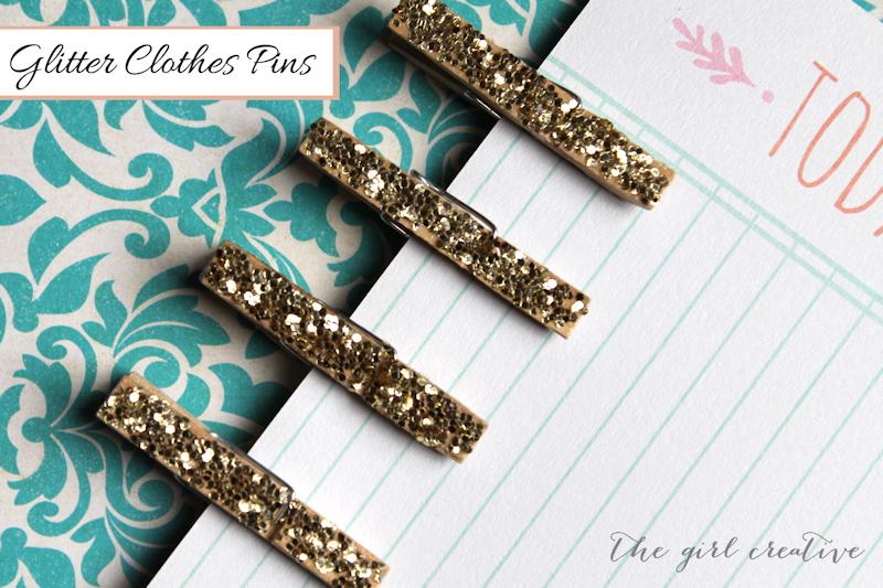 DIY Glitter Clothes Pins