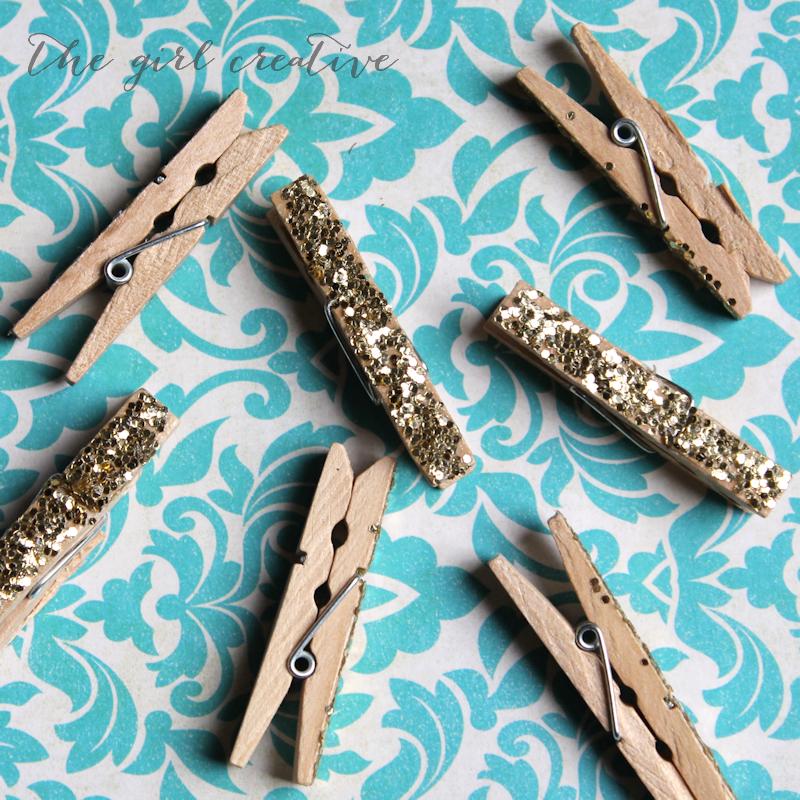 Glitter Clothes Pins