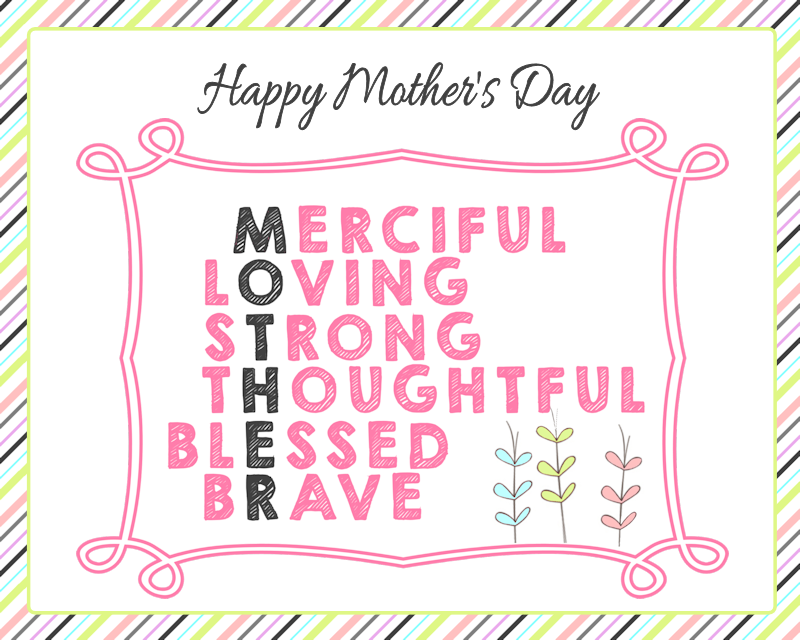 Mother's Day Labels and Tags