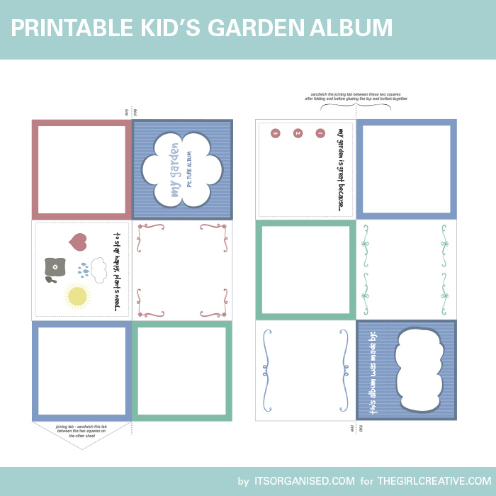 Children's Printable Garden Album PDF