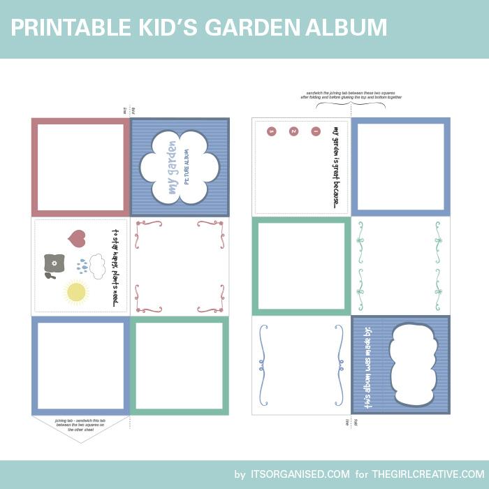 Children's Printable Garden Album PDF