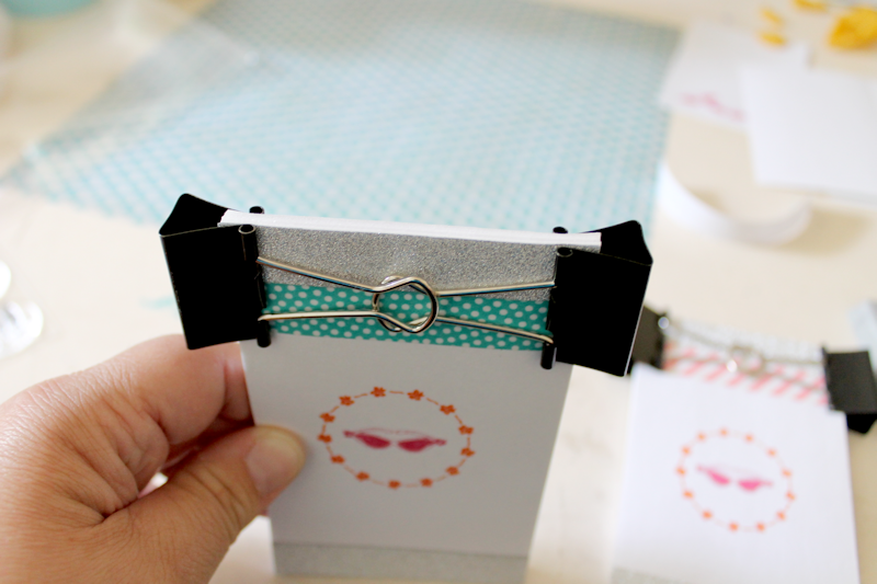 DIY Notepads - binder clips