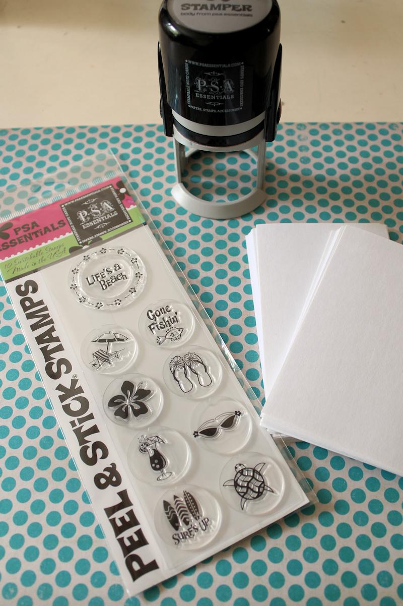 DIY Notepads - supplies