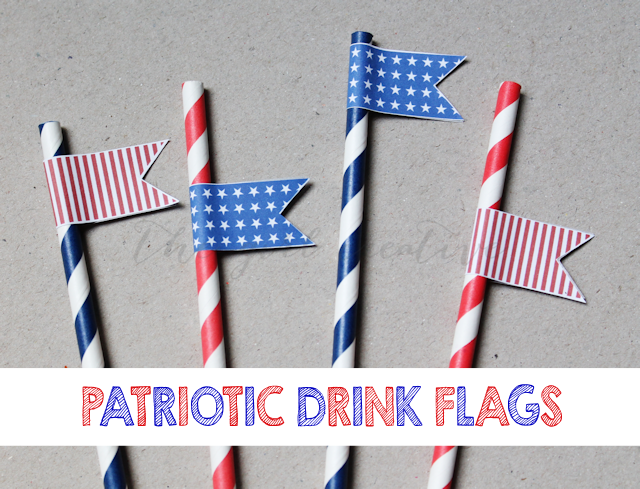 Printable 4th of July Drink Flags - Page 2 of 2 - The Girl Creative