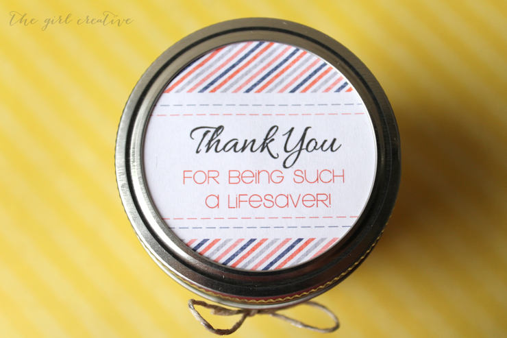 Thank you for being such a lifesaver thank you gift