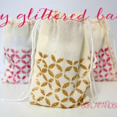 DIY Glittered Bags #makeitmonday