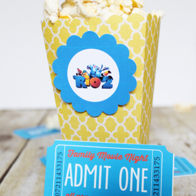 Family Movie Night with Printable Tickets
