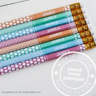 Back to School – Personalized Pencil Cover Printable