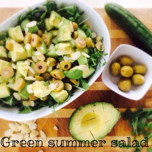 green summer salad