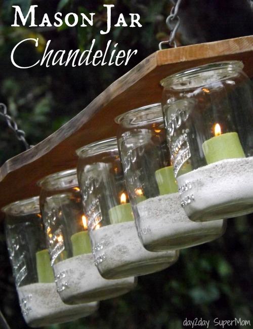 Diy mason jar chandelier the girl creative aloadofball Gallery