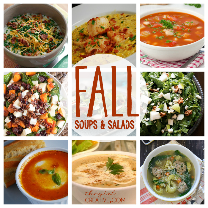 Fall soups and salads the girl creative