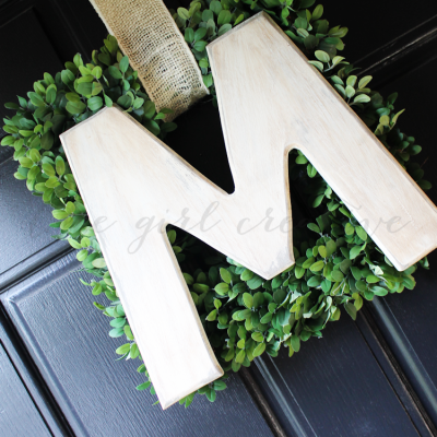 Easy Monogram Wreath