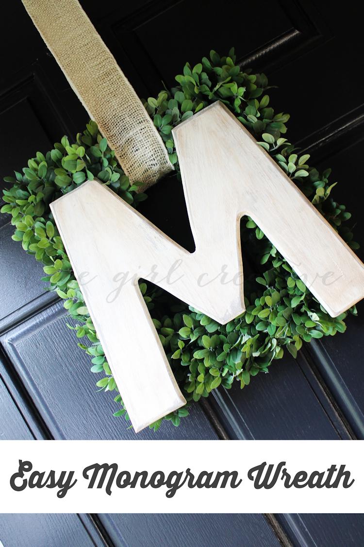 Easy Monogram Wreath