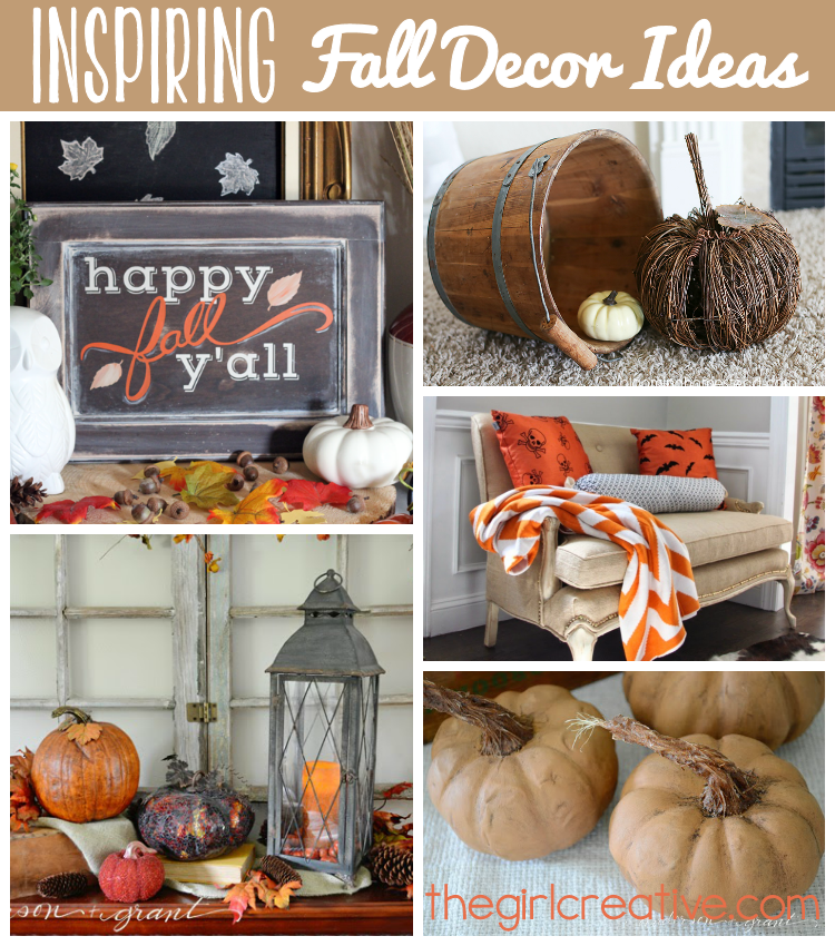 Inspiring Fall Decor Ideas #diyinspiredparty #fallcrafts