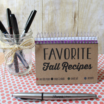 DIY Fall Recipe Book