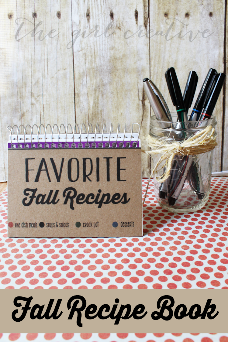 Fall Recipe Book