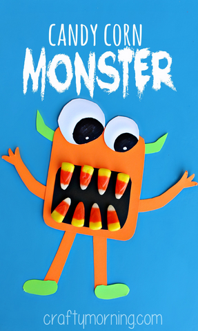 Halloween Crafts-Candy Corn Monster