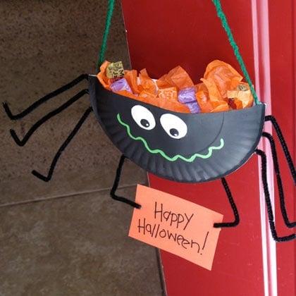 Halloween Crafts-Spider Candy Holder