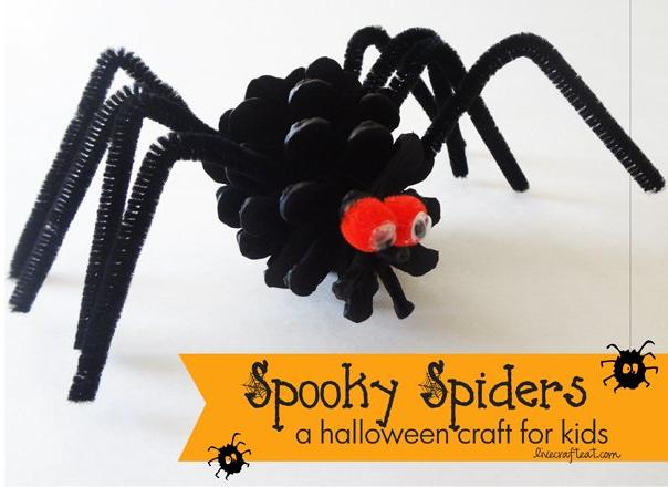 Halloween Crafts-SpookySpiders