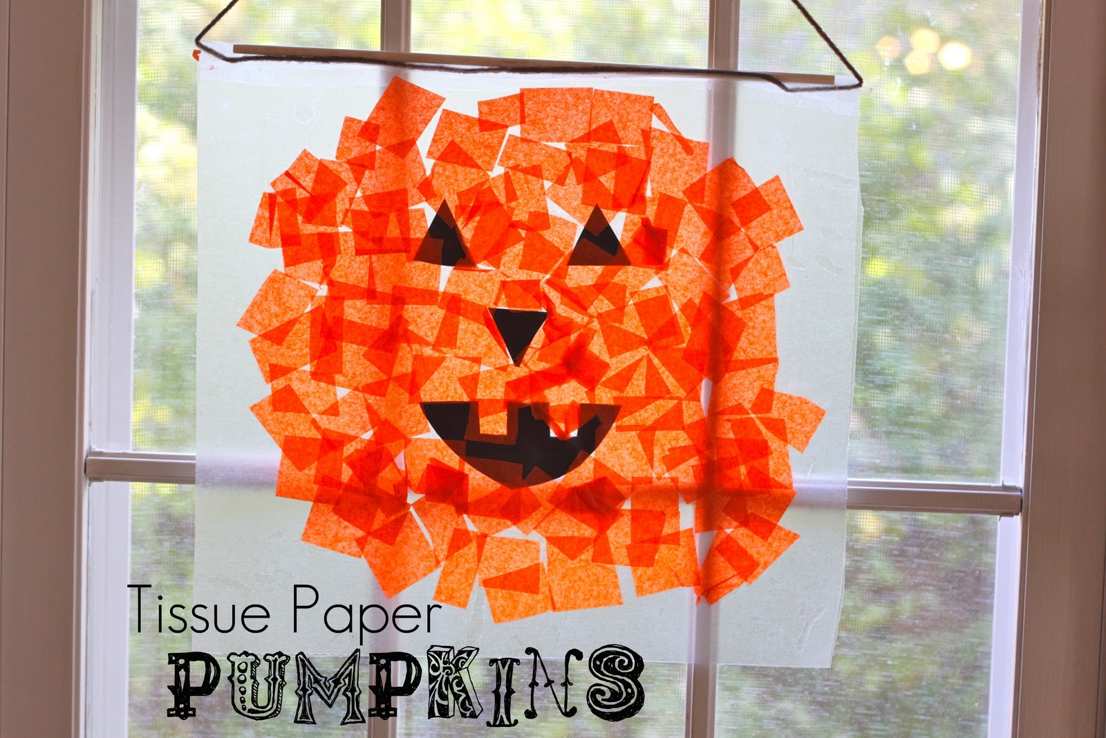 Halloween crafts for kids page 2 of 2 the girl creative for Tissue paper for crafts