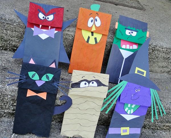 Halloween Crafts-halloween-paper-bag-puppets