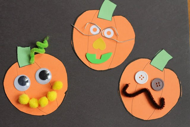 Halloween Crafts-jack o lantern craft 1