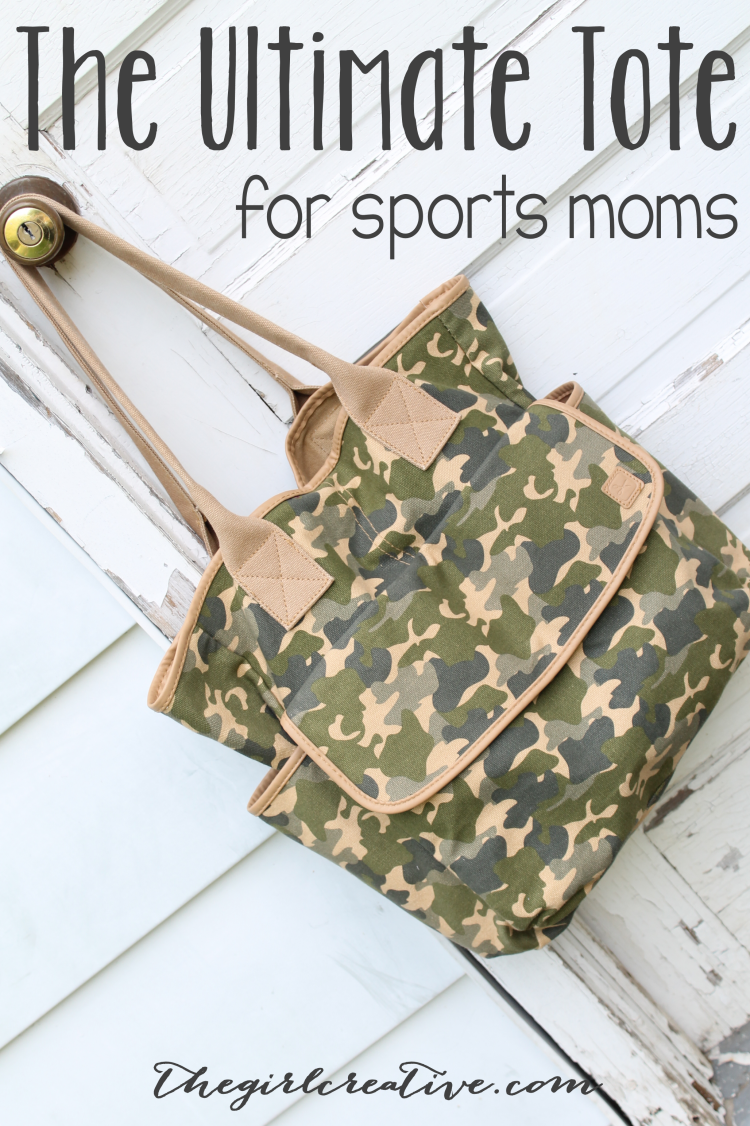 The ultimate totebag for sports moms. Plent of pockets, lots of room.
