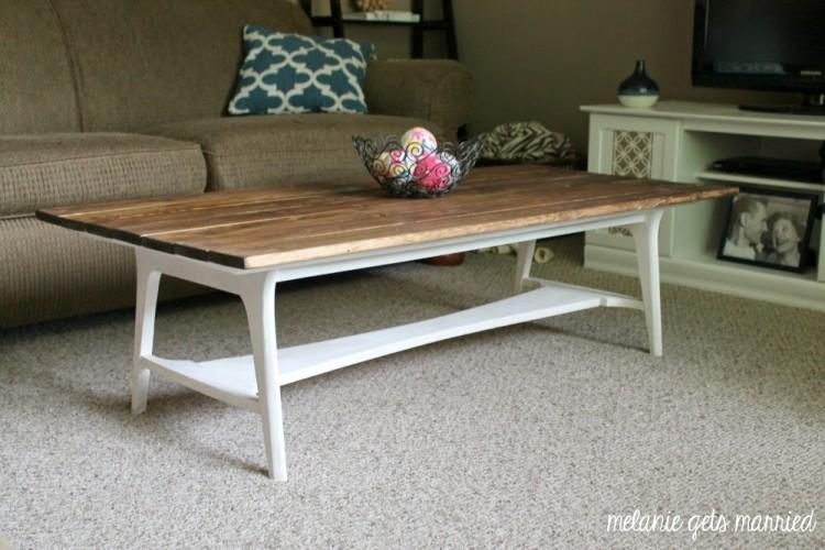 Wood Plank Coffee Table