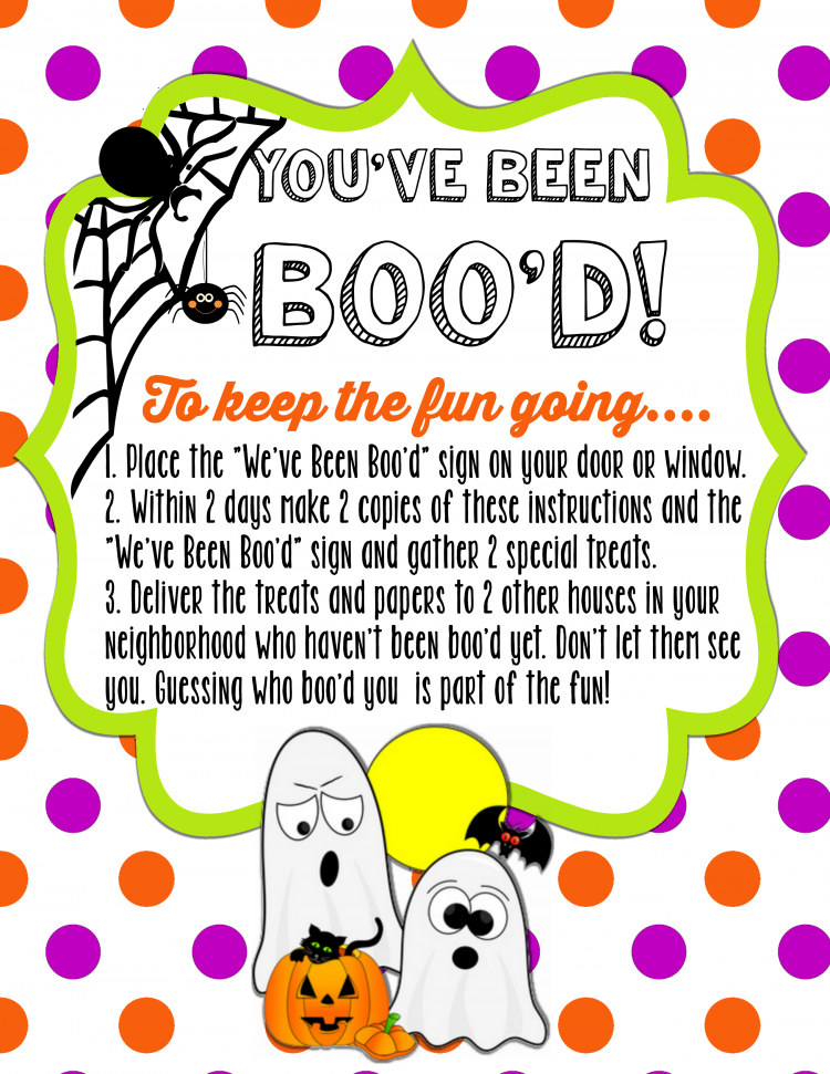 "You've Been Boo'd free printable set. Spread some joy and have some fun this Halloween by secretly ""booing"" your friends and neighbors."