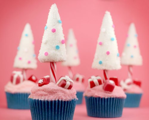 christmascookies-candy candy christmas tree cupcakes