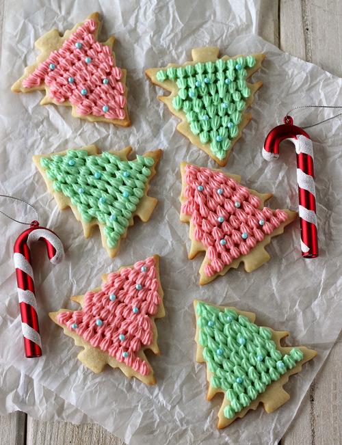 christmascookies-christmas tree sugar cookies