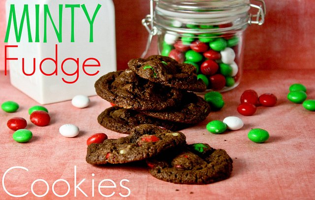 christmascookies-minty fudge cookies