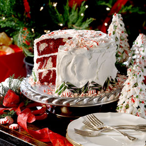 christmascookies-red velvet peppermint cake