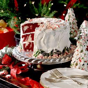 christmascookies-red velvet peppermint cake
