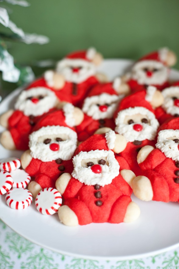 christmascookies-roly poly santa cookies
