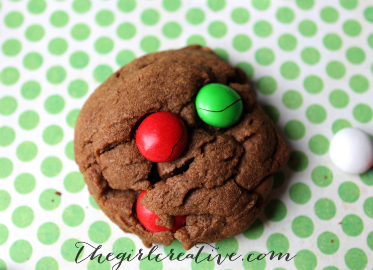 Mint M&M Cookies