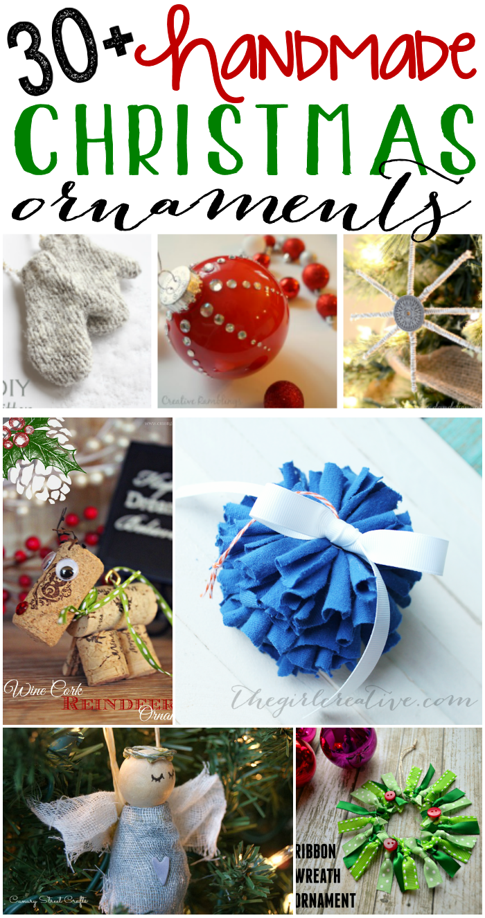 Handmade Christmas Ornaments for DIYers of all levels!