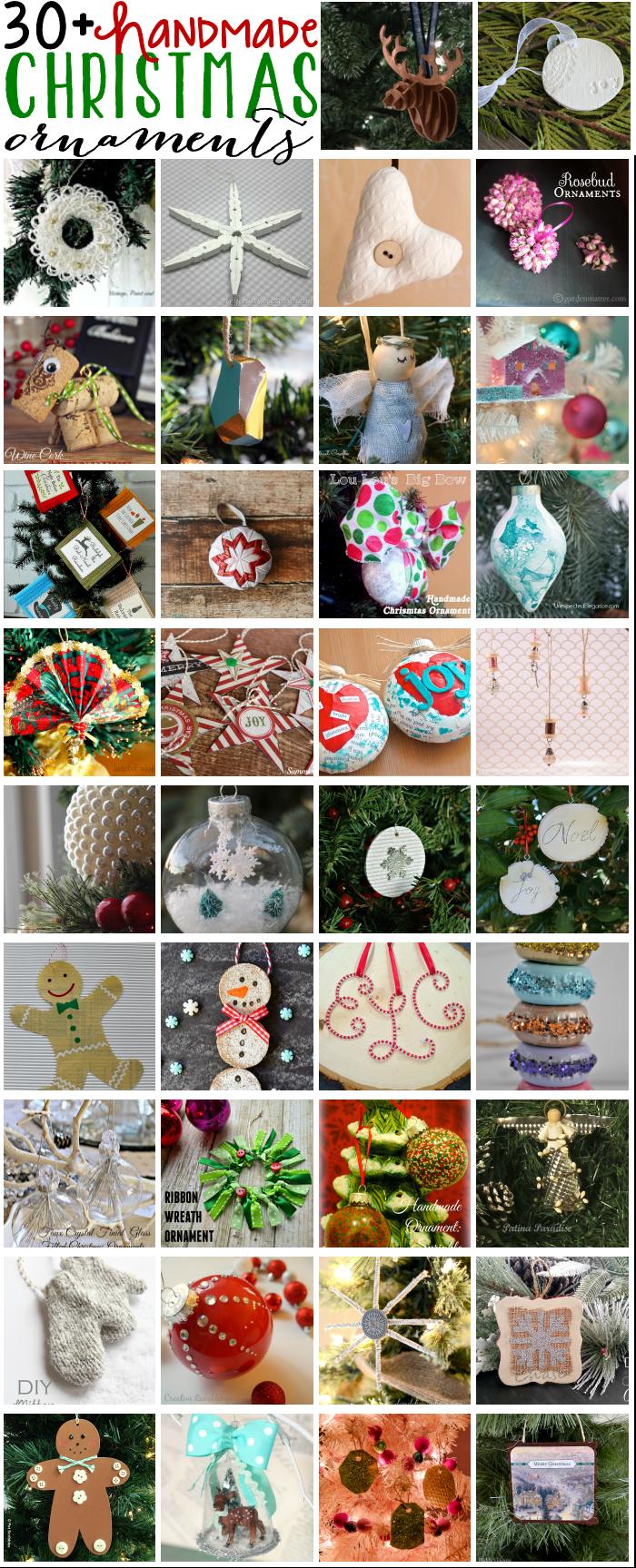 Handmade Christms Ornaments Blog Hop